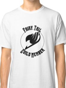 Fairy Tail Guild Member- Black Text Classic T-Shirt