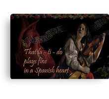 Spanish beat Canvas Print