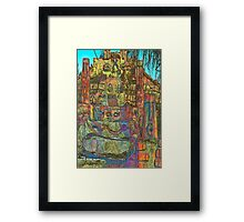 Temple to Psychedelia  Framed Print