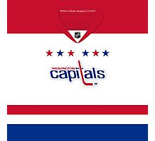 Washington Capitals 2011 Winter Classic Jersey Photographic Print