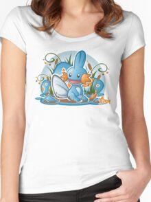 Pokemon - Mudkip - Render Cut Women's Fitted Scoop T-Shirt