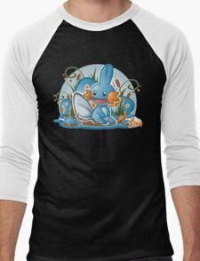 Pokemon - Mudkip - Render Cut Men's Baseball ¾ T-Shirt