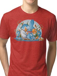 Pokemon - Mudkip - Render Cut Tri-blend T-Shirt