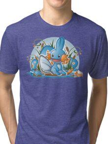 Pokemon - Mudkip - Render Cut Tri-blend T-Shirt