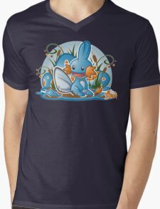 Pokemon - Mudkip - Render Cut Mens V-Neck T-Shirt