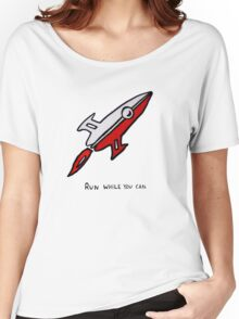 Red Rocket Ship Women's Relaxed Fit T-Shirt