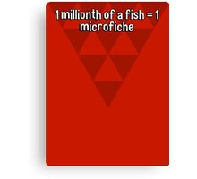 1 millionth of a fish = 1 microfiche Canvas Print