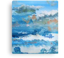 Colorful Coudy Evening Sky Painting Canvas Print