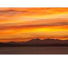 Seattle's Puget Sound Sunset Photographic Print