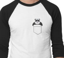 Panda In A Pocket Men's Baseball ¾ T-Shirt