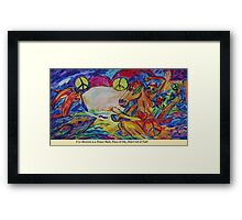 Ive Thrown You A PEACE Ball Framed Print