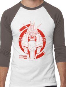 GAT-X105B Build Strike Gundam Men's Baseball ¾ T-Shirt