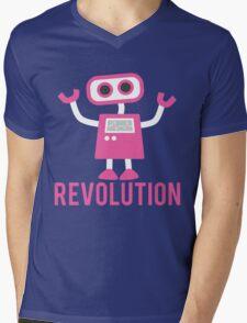 Robot Revolution Uprising Mens V-Neck T-Shirt