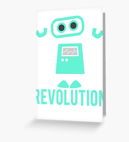 Robot Revolution Uprising Greeting Card