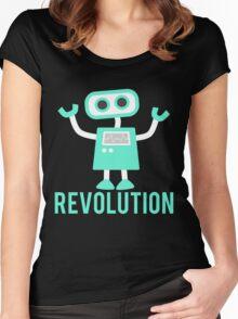 Robot Revolution Uprising Women's Fitted Scoop T-Shirt