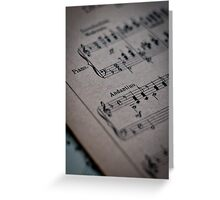 Piano Music Parchment Greeting Card