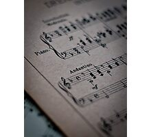 Piano Music Parchment Photographic Print