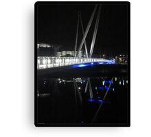 Newport City Footbridge Reflection Canvas Print