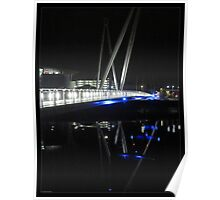 Newport City Footbridge Reflection Poster