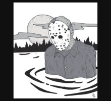Jason Vorhees T Shirt B/W by Jaikav7