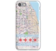 City of Chicago Flag Map iPhone Case/Skin