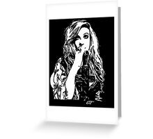 Mia Swier - Black & White Greeting Card
