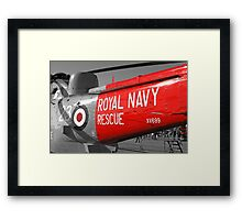 Royal Navy Rescue Helicopter Framed Print