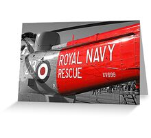 Royal Navy Rescue Helicopter Greeting Card