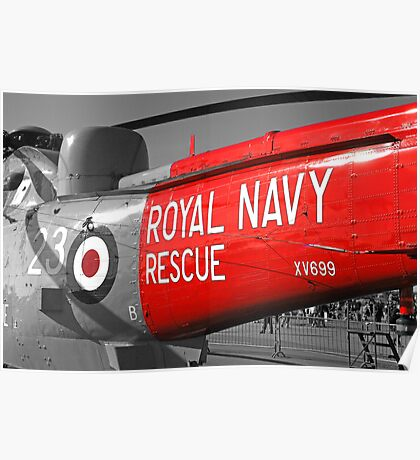 Royal Navy Rescue Helicopter Poster