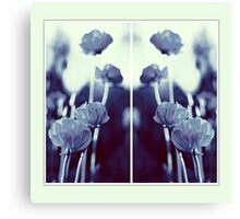 pete's poppies - collage Canvas Print