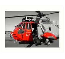 Royal Navy Rescue Helicpoter Art Print