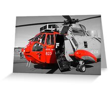 Royal Navy Rescue Helicpoter Greeting Card