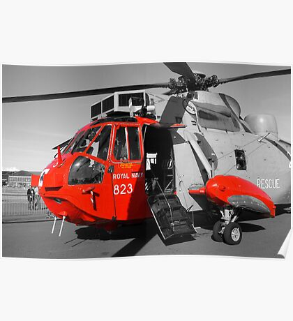 Royal Navy Rescue Helicpoter Poster