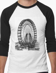 Vintage Ferris Wheel Chicago Fair Men's Baseball ¾ T-Shirt