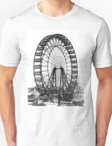 Vintage Ferris Wheel Chicago Fair Unisex T-Shirt