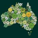 aussie buttons green and gold by creativemonsoon