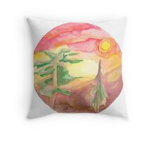 Trees and Sunsets Throw Pillow