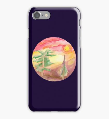 Trees and Sunsets iPhone Case/Skin