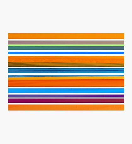 Colorful Striped Seamless Pattern Photographic Print