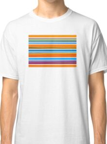 Colorful Striped Seamless Pattern Classic T-Shirt