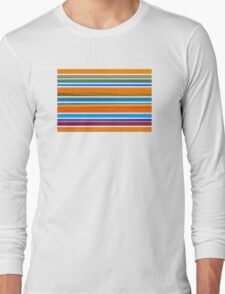 Colorful Striped Seamless Pattern Long Sleeve T-Shirt