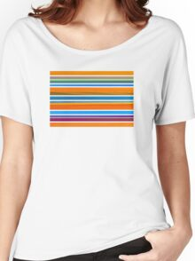 Colorful Striped Seamless Pattern Women's Relaxed Fit T-Shirt