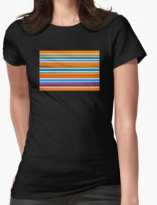 Colorful Striped Seamless Pattern Womens Fitted T-Shirt