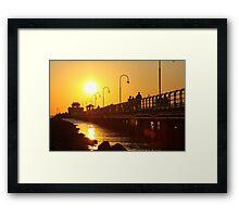 Distant Sun - St Kilda pier Framed Print
