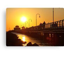 Distant Sun - St Kilda pier Canvas Print