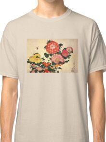 'Chrysanthemum and Bee' by Katsushika Hokusai (Reproduction) Classic T-Shirt