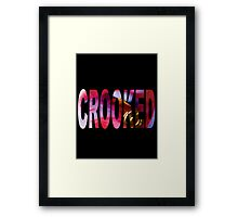 Crooked Genius Line Framed Print