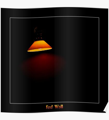 Red Wall Poster