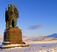 Commando Memorial in snow by Citril