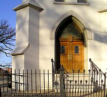 Door to a Church in Downtown, Danville, Va by BCallahan